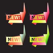 vektorový soubor origami bannery