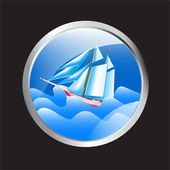 okénko s výhledem na moře a moře výletní loď