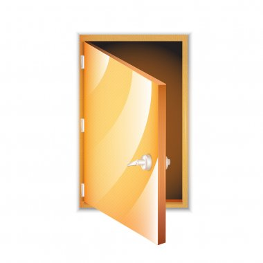 Vector opened door vector illustration stock vector