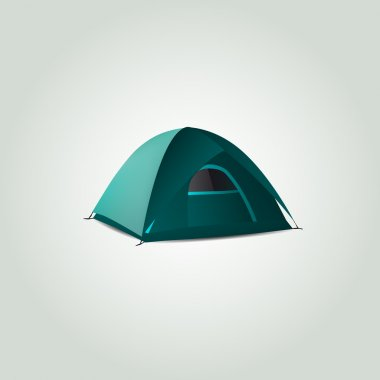 Vector tent,  vector illustration stock vector