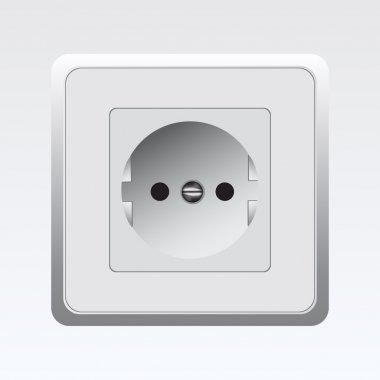 White Socket,  vector illustration stock vector