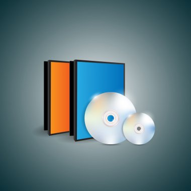Blank cases and disks. stock vector