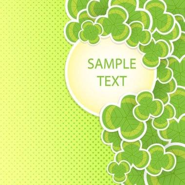 Clover vector background on the occasion of st patricks day stock vector
