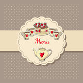 vektorové ilustrace čaj menu.