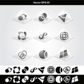 Vektor absztrakt gombok. vektoros illusztráció