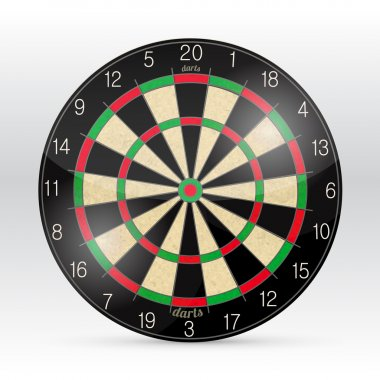 Darts Board Isolated on White Background. Vector. stock vector