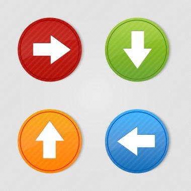 4 colored arrow sign vector stock vector