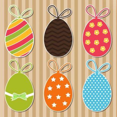 Bright easter eggs card. Vector stock vector