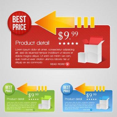 Best price vector banner stock vector