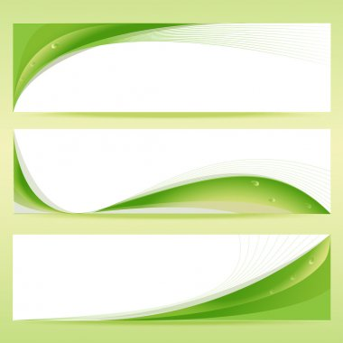 Vector set of green banners. stock vector