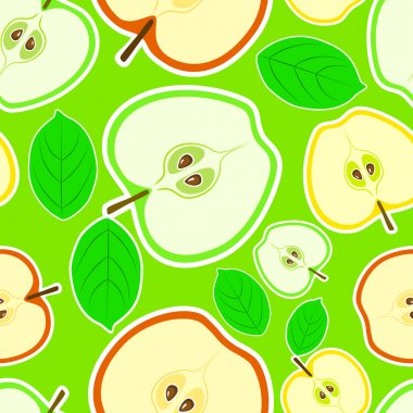 Vector background with apples.