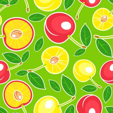 Vector background with cherry. stock vector
