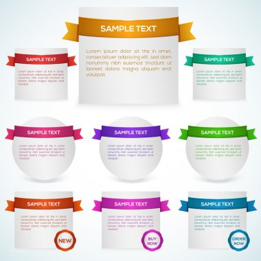 Vector set of banners with ribbon. stock vector