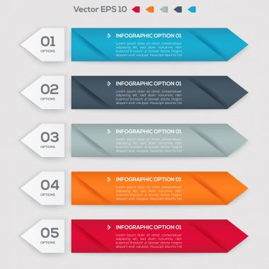 Vector banners with numbers. stock vector