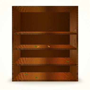 Wooden shelves. vector illustration stock vector