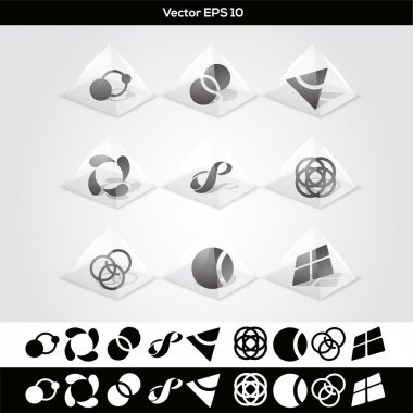 Vector abstract buttons. vector illustration stock vector