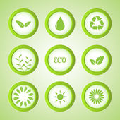 Vector set of eco buttons.