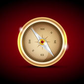 Vector illustration of a compass.
