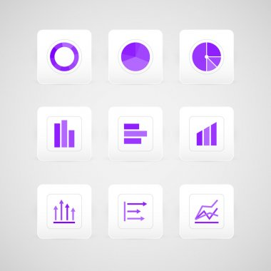 Vector buttons with infographic elements. stock vector