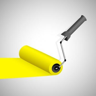 Paint roller. Vector illustration. stock vector
