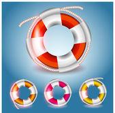 Vector lifebuoys set vector illustration