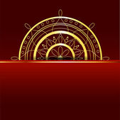 Vector red background with gold element.