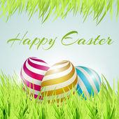 Vektor-Hintergrund für glückliche Ostern mit Eiern.