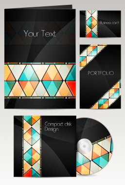 Professional corporate identity kit or business kit with artistic, abstract effect for your business stock vector
