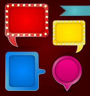 Banners & speech bubbles. vector illustration stock vector