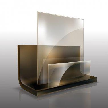 Vector glass element vector illustration stock vector