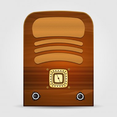 Retro radio. Vector illustration. stock vector