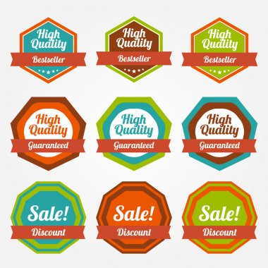 Vector set of vintage labels for sale. stock vector
