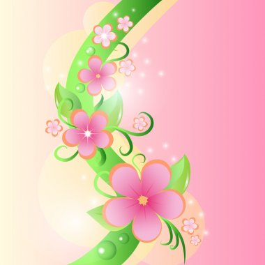 Spring floral background. vector illustration stock vector