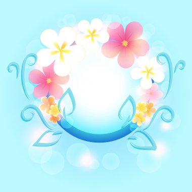 Spring frame with flowers. stock vector
