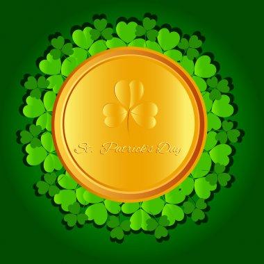 St Patricks day background. stock vector