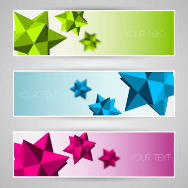 Vector banners with abstract elements. stock vector