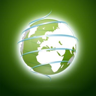 Green earth. Vector illustration stock vector