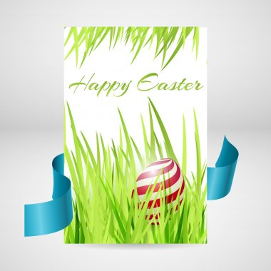 Greeting card for happy easter with eggs. stock vector