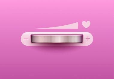 Love control. Vector illustration. stock vector