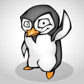 Rajzfilm pingvin. Vektoros illusztráció