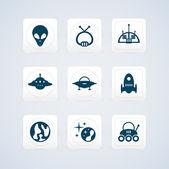černá místa ikony nastavit. vektorové ilustrace