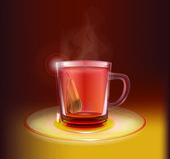 vektorová ilustrace šálku čaje