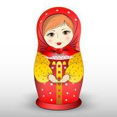 Tradiční matryoschka panenka, vektorové ilustrace