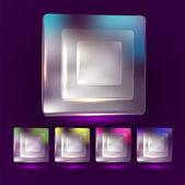 Vector bílý čtvereček podnikání ikona