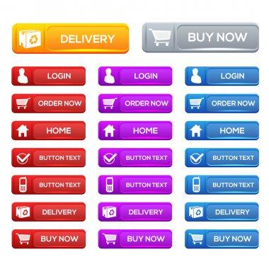 Vector shopping icons vector illustration stock vector