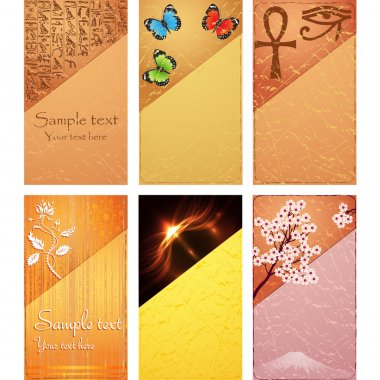 Set of natural card for design. Vector stock vector