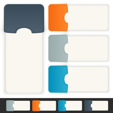Paper tags. Vector illustration stock vector