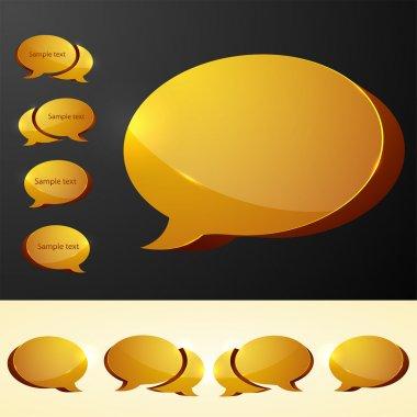 Speech bubbles. vector illustration stock vector