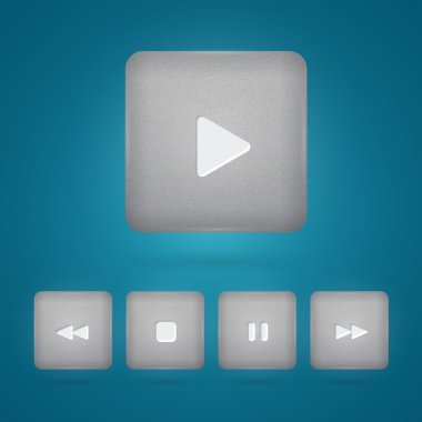 Vector set of player buttons stock vector