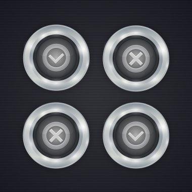 Vector check mark buttons stock vector